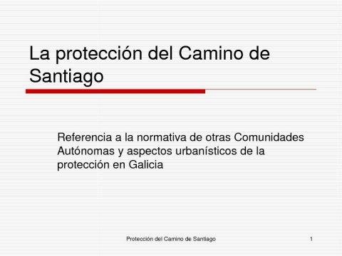 Presentación Manuel Pillado Quintáns, letrado da Xunta de Galicia - Congreso sobre Unha Visión Xuridica do Camiño de Santiago